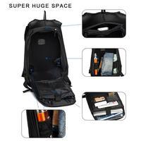 Motorcycle Bag Waterproof Hard Shell Backpack Carbon Fiber Motorbike Helmet Backpack 30L Large Capacity Riding Storage Bag