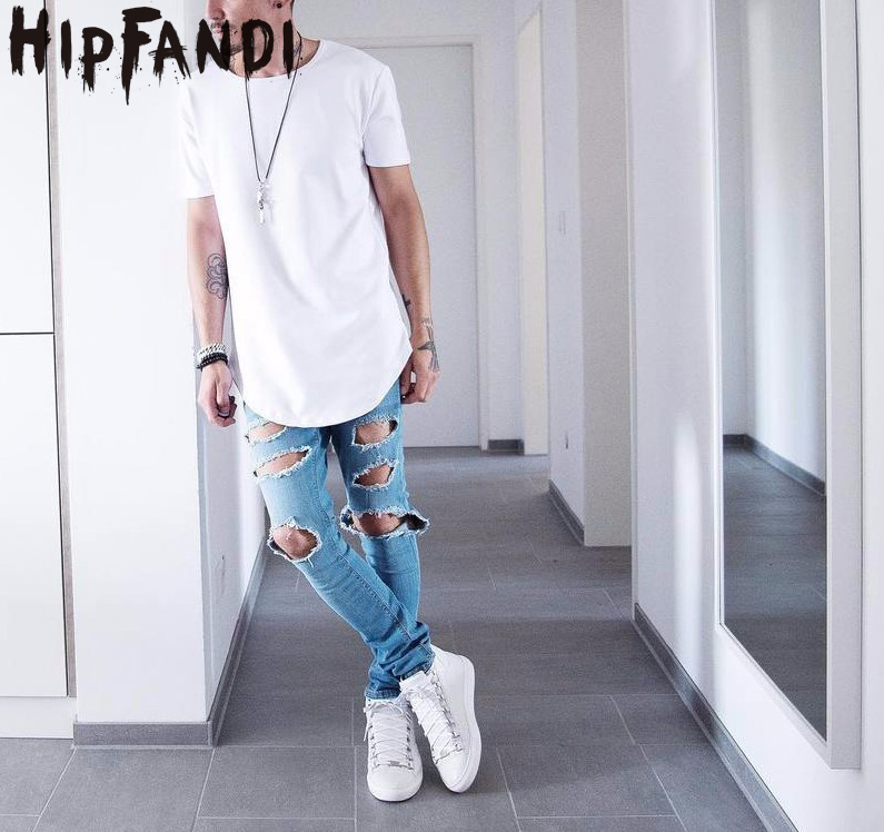 HIPFANDI Summer Men Short Sleeve Extended Hip Hop T shirt Oversized Tyga Kpop Swag Clothes Men's Casual Streetwear Camisetas