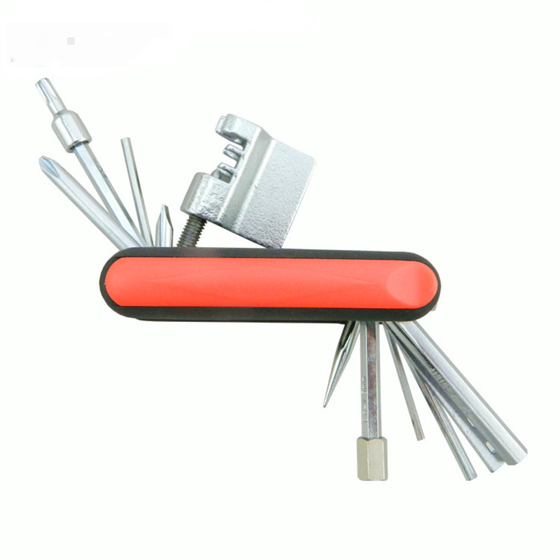 Q218 2016 New products Mini Repair Pocket Folding 17in1 Bicycle Moutain Road Bike Tool Set Cycling Multi Repair Tools Kit Wrench