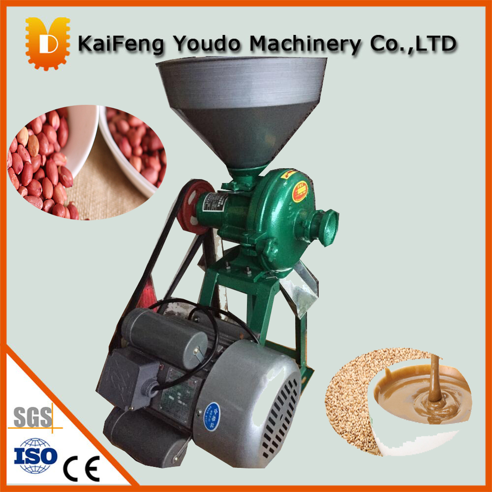 UDMJ-150 Peanut grinding machine/Rice, soybeans, corn crushing machine/rice milling machine(with motor) udmj 150 grain butter making machine cereal butter maker with motor