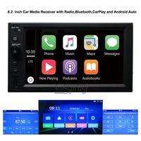 6,2 дюймовый автомобильный медиаприемник подходит для всех автомобилей с Bluetooth, Apple CarPlay и Android Auto 2 DIN автомагнитола.