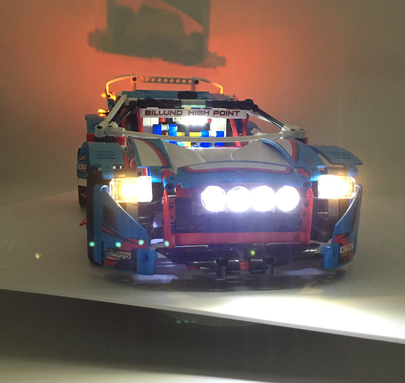 LED light up kit for lego Technic Series 42077 and 20077 The Rally Car brick Set ( car set not included, only contain light )