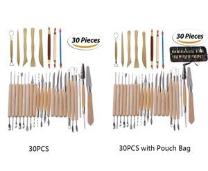 Image 4 - 27 / 30 חתיכות DIY אמנות חימר חרס כלי סט מלאכות חימר פיסול כלי ערכת חרס וקרמיקה עץ ידית דוגמנות חימר כלים
