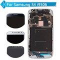 Белый Синий Для Samsung Galaxy SIV S4 I9506 ЖК-Дисплей с Сенсорным Экраном Дигитайзер Ассамблеи С Рамкой + Инструменты Бесплатно доставка