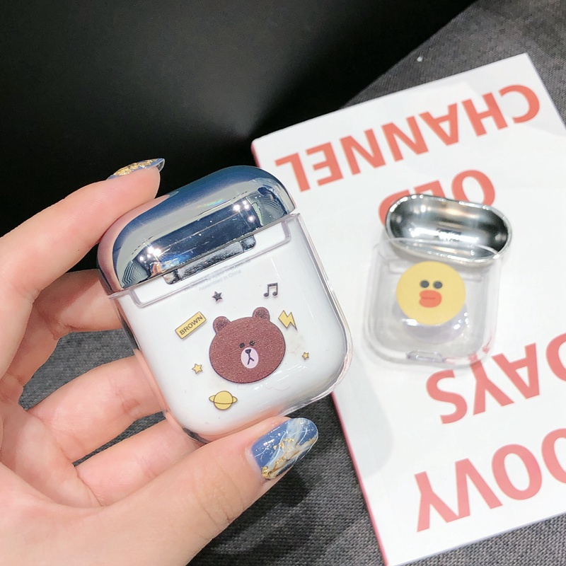 Cute Bluetooth Wireless Headphone Case For Airpods 2 Case Transparent Cartoon Cover For Apple Airpod Protective Charger Cases