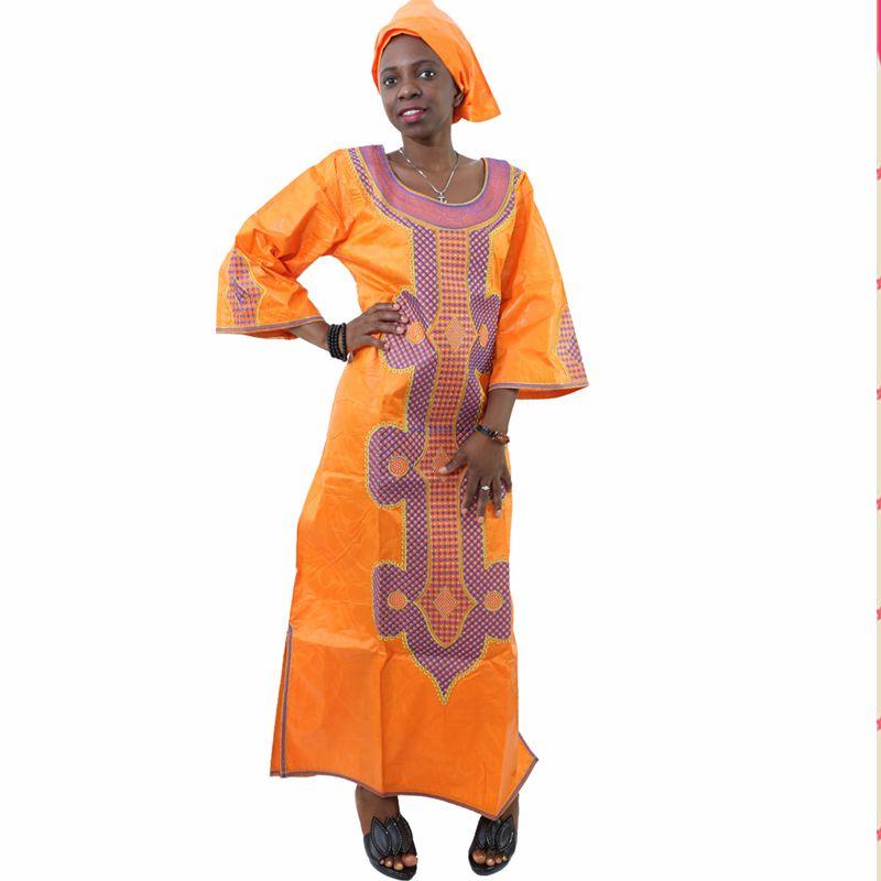 Ücretsiz kargo Afrika geleneksel bazin riche kadın pamuk işlemeli - Ulusal Kıyafetler - Fotoğraf 1
