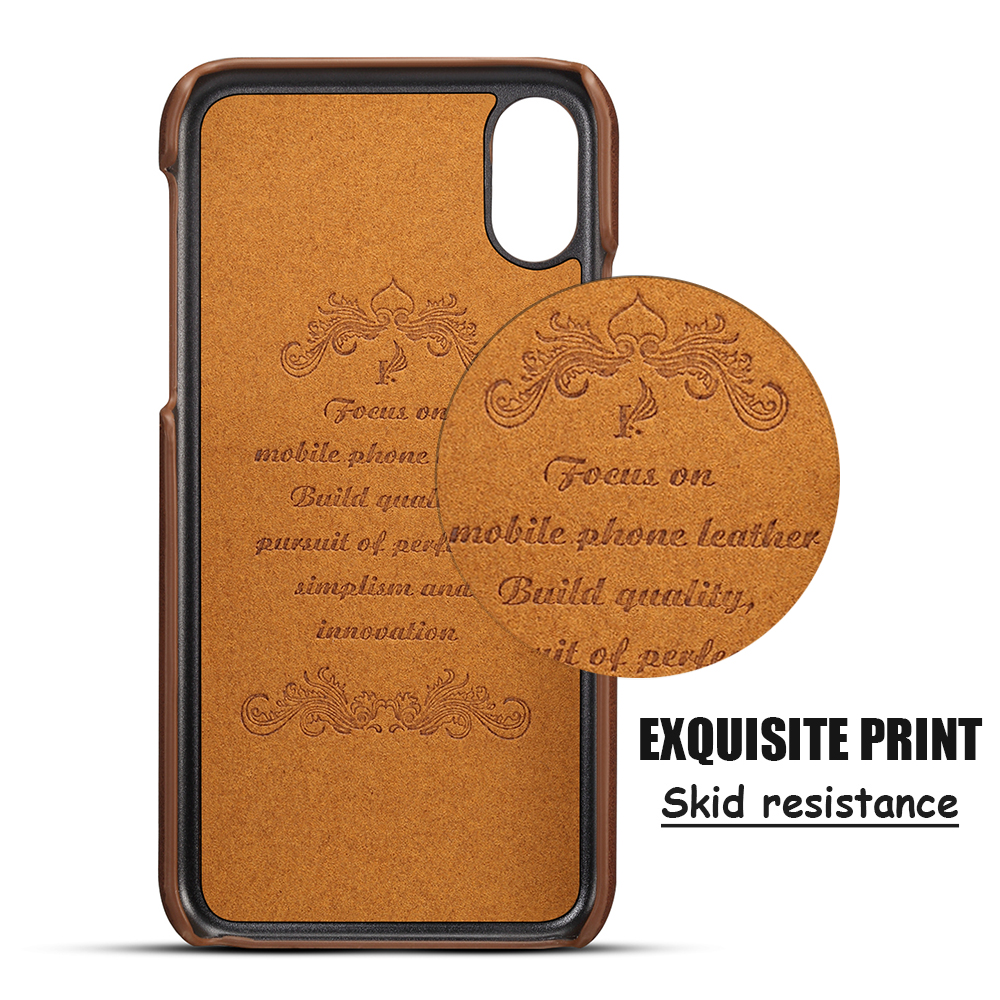 KIPX1014_6_Slim Leather Back Cover For iPhone X Cow Case Ultra Thin Wallet Card Holder Back Covers For iPhone 10