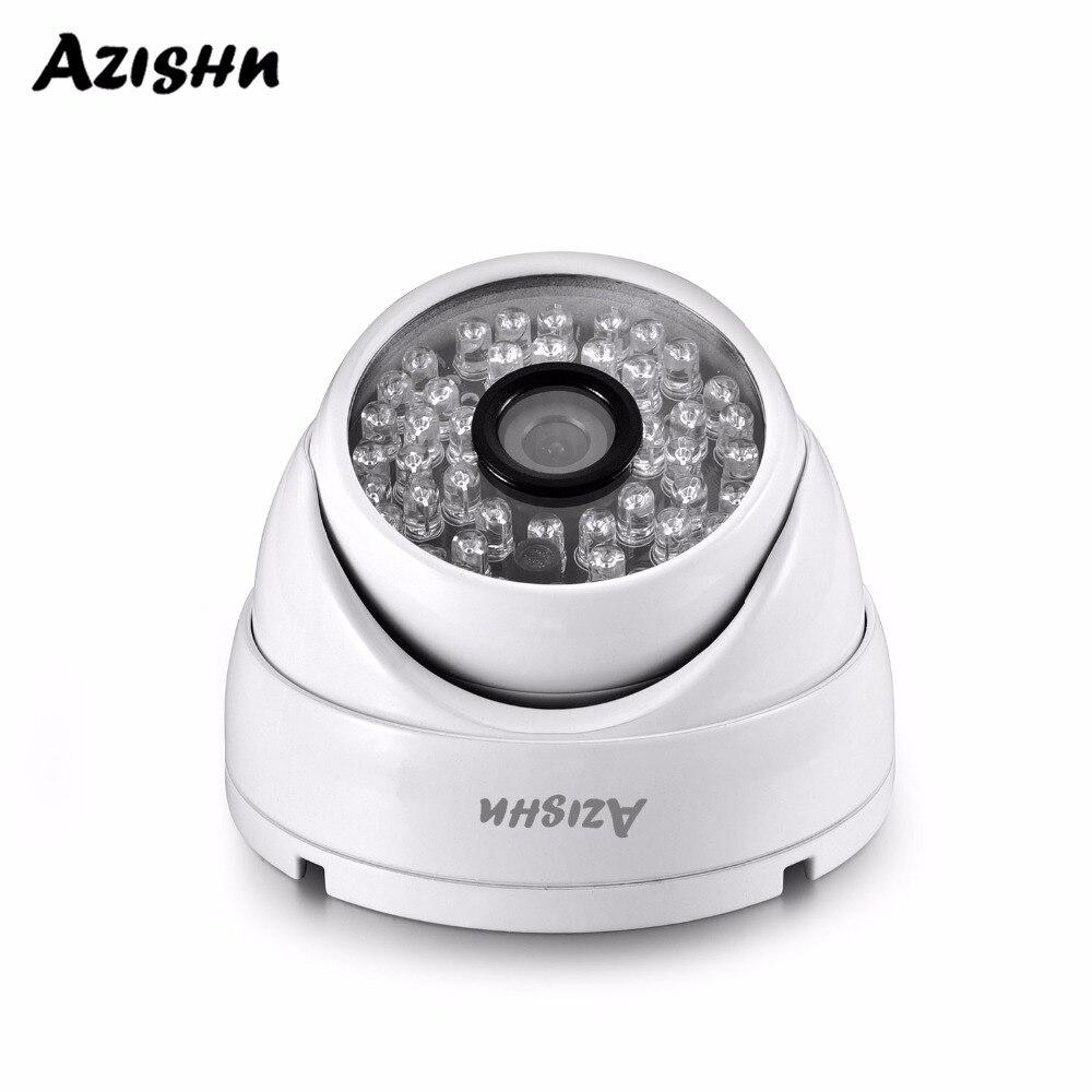 3MP AZISHN Full HD SONY sensor de IMX307 H.265 ONVIF POE Cúpula De Câmera de Segurança Vigilância Cam Visão Nocturna do IR Ao Ar Livre À Prova D' Água