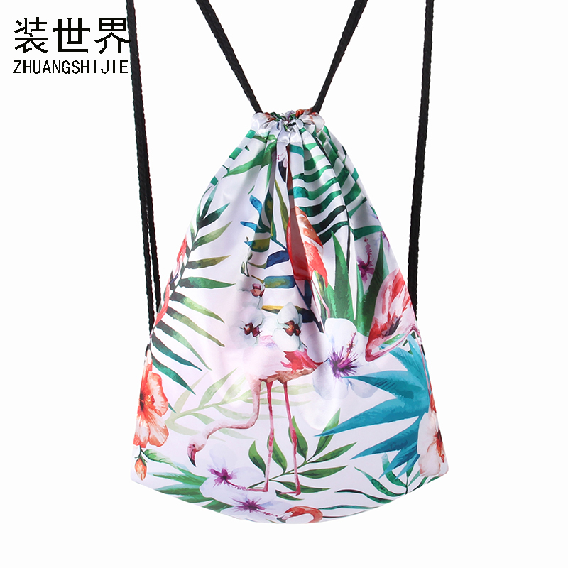New Arrival 3D Printed Flamingos Leaf Pattern Girl'S Backpacks Women's Lady Travel Shopping Drawstring Bag School Bag005 new arrival turbowing 5 8ghz 3dbi 3 leaf