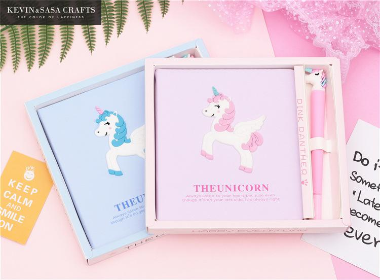 Unicorn Notebook Gift Set Note Book With Pen Set Diary Day Planner Kawaii Journal Stationery School Supplies Study Gift Tools недорго, оригинальная цена