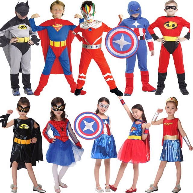Umorden Halloween Costumes Kids Super Hero Spider Man Bat Man