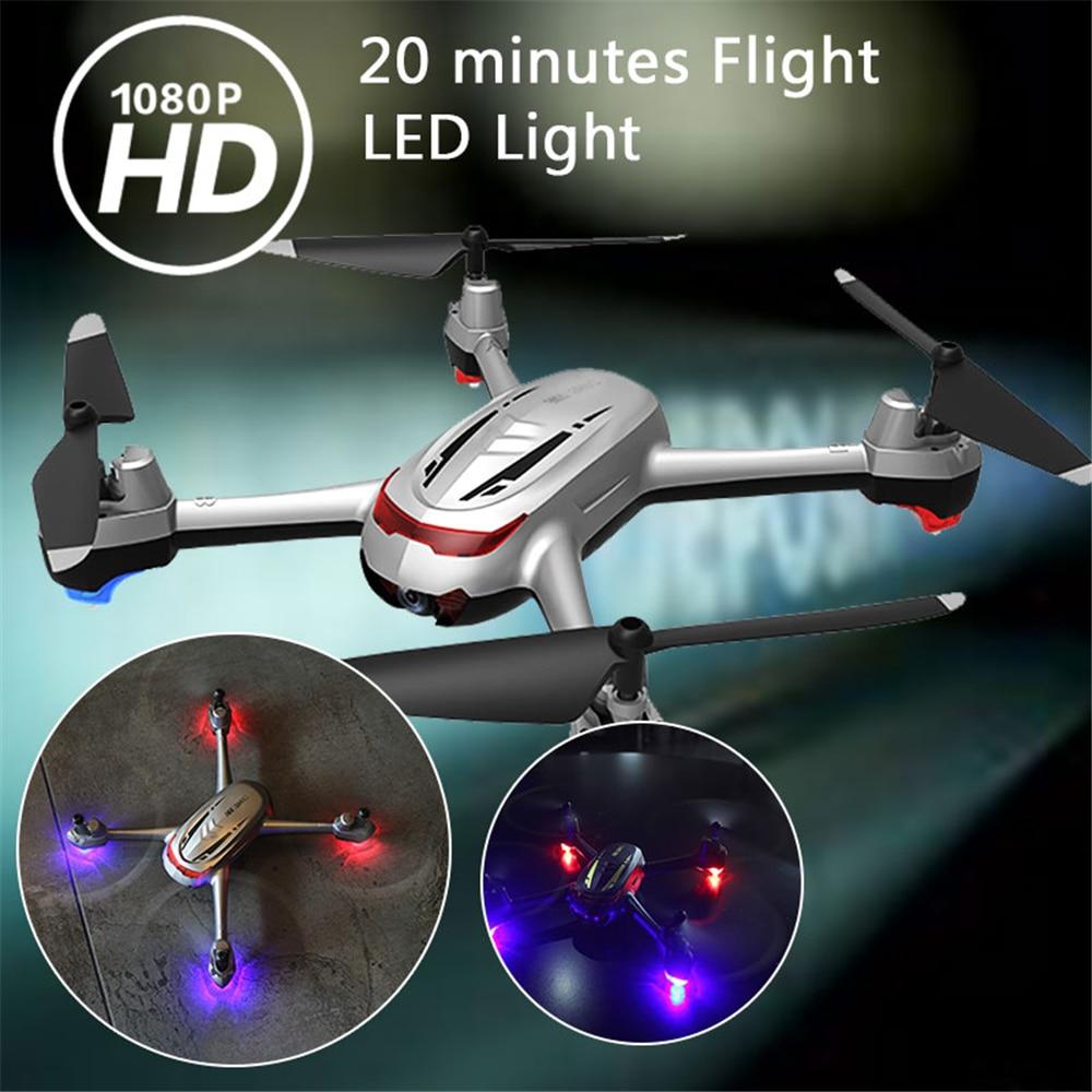 Phoota RC Drone UAV 20min One Key Take Off LED Lighting 1080P HD Camera 360 Degrees Rolling Speed Adjustable Quadcopter