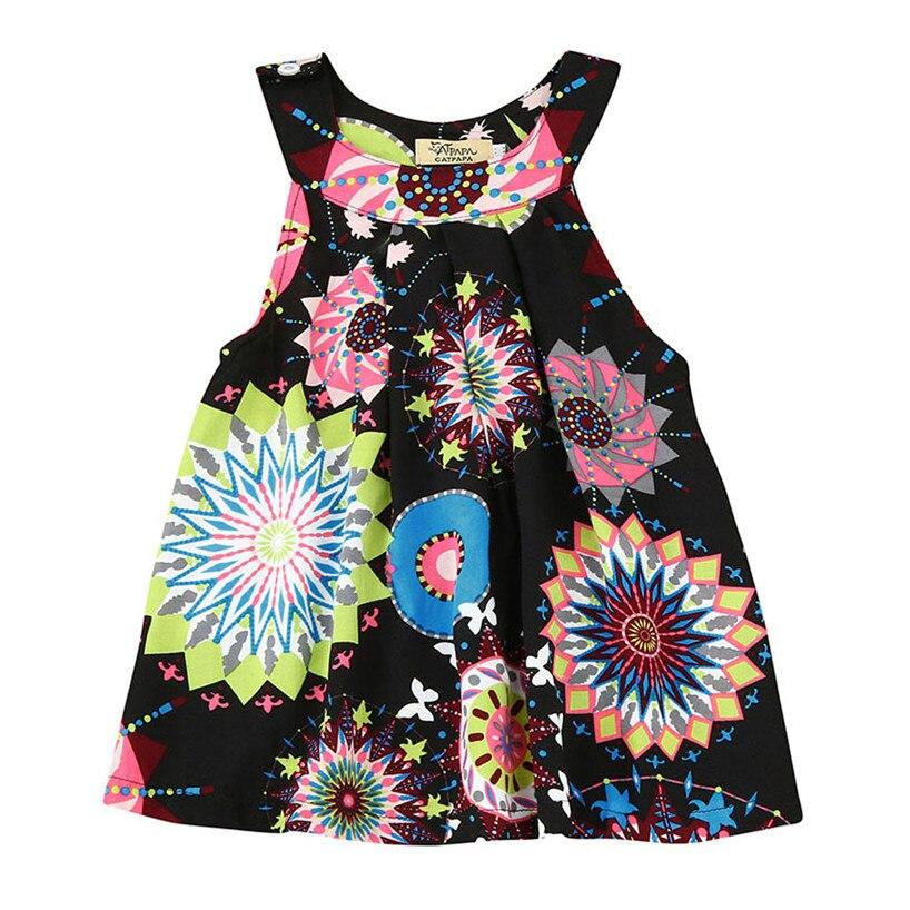 ARLONEET Toddler Baby Kids Girls Flower Bohemian Princess Dress Beach Sundress Clothes jan29/P