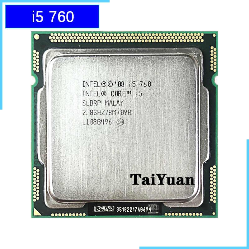 إنتل كور i5-760 i5 760 2.8 GHz رباعية النواة معالج وحدة المعالجة المركزية 8 M 95 W LGA 1156
