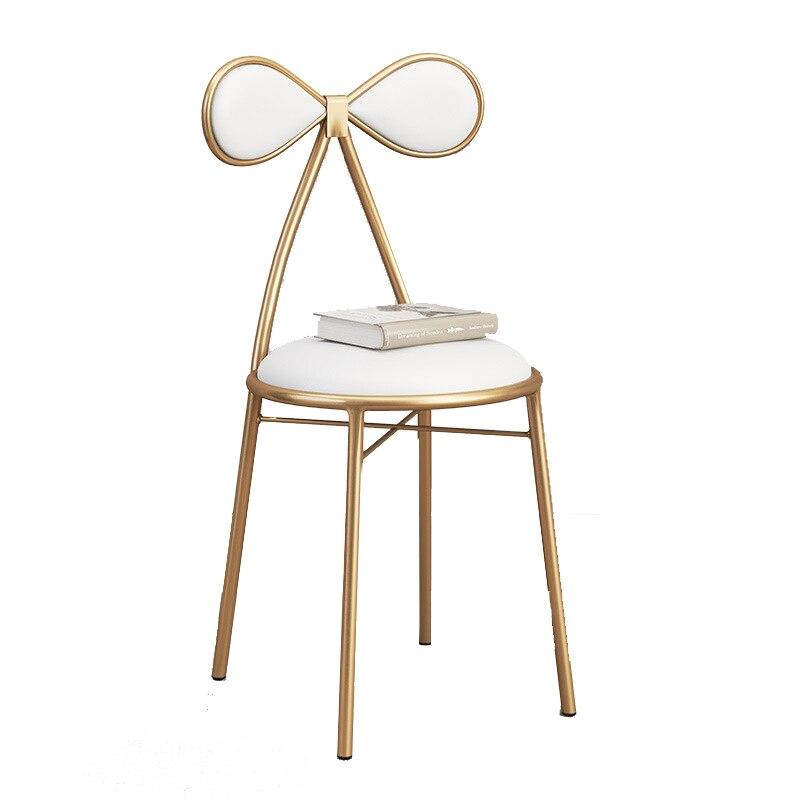 Nordique dinant la chaise moderne or net rouge maison beauté boutique Photo maquillage tabouret Restaurant café ongle boutique chaise coiffeuse chaise