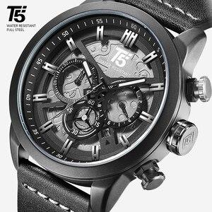 Image 2 - AAA T5 marka luksusowy zegarek męski człowiek wojskowy zegarek kwarcowy Sport Wrist mężczyźni Chronograph wodoodporne męskie zegarki sportowy zegarek