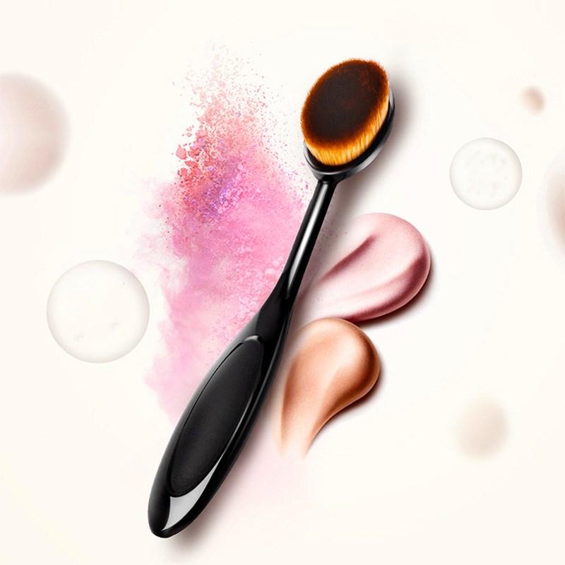 1Pcs Makeup Brushes Powder Brush Toothbrush Cosmetic Face Foundation Brush Oval Ultrafine Fiber Make Up Brushes Beauty Tools image