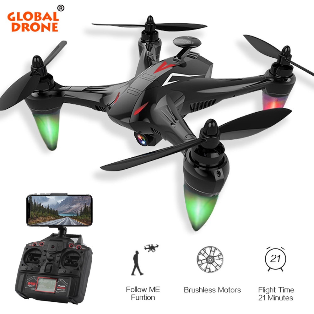 Global Drone GW198 RC Quadcopter with 1080P HD 5G WiFi FPV Camera Brushless Drone Follow Me GPS Quadrocopter VS H501S X183 цена в Москве и Питере