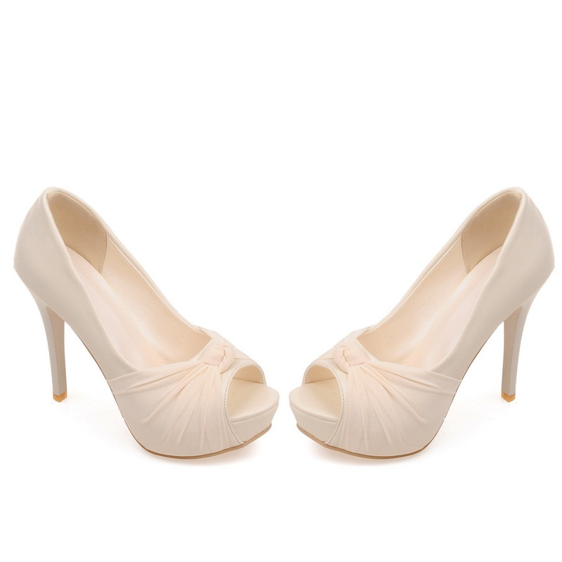 MORAZORA Hot sale new shoes woman pumps big size 33-43 platform shoes high heel 12cm wedding shoes elegant peep toe 11