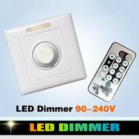200W LED Dimmer 90 240V White IR Knob Switch Wireless Remote Control Many Units Dimmable LED Downlight