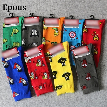 Epous Marvel Comics Hero General Socks Cartoon Iron Man Captain America Knee-High Warm Stitching Pattern Antiskid Casual Sock ultimate comics captain america