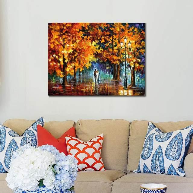Lukisan Pemandangan Yang Indah Air Mata Sudut Pisau Palet Art On Canvas Dinding Untuk Ruang Tamu