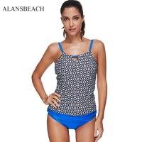 ALANSBEACH Women High Waist Swimwear Bikini Short Two Piece Swimsuit Bikinis Set Swim Beach Sport Bathing