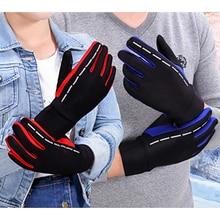 Winter Gloves Warm Full Finger Water Splash-proof gloves Reflective Sport Men D40