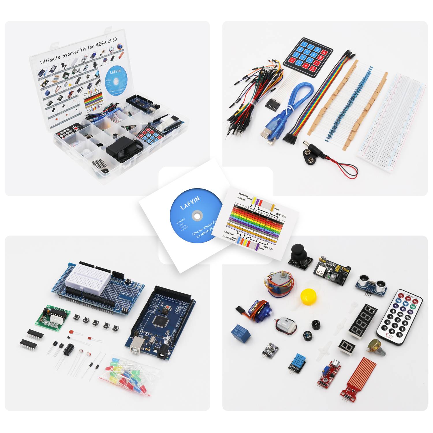 Image 2 - LAFVIN Mega 2560 Project The Most Complete Starter Kit with Tutorial for Arduino-in Integrated Circuits from Electronic Components & Supplies