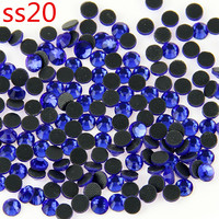 100 Grosss Dark Sapphire Rhinestopne SS20 Crystal DMC HotFix Glass Rhinestones Iron On Shoes Bags