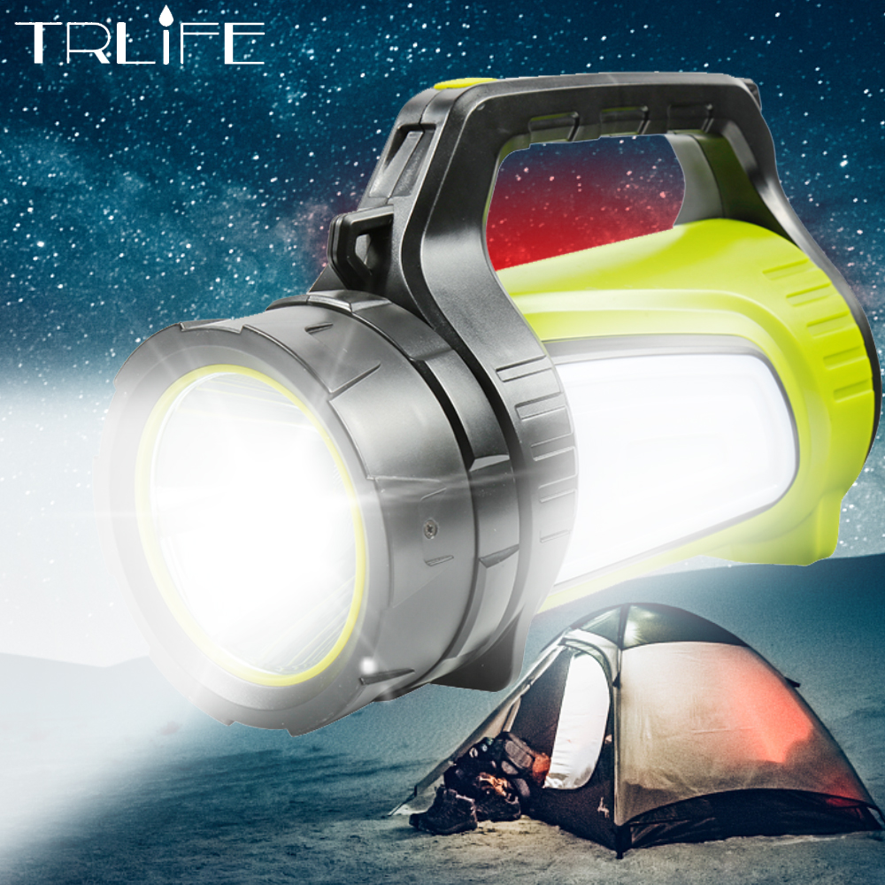 High Power LED Searchlight Lantern Built-in Battery Handheld Portable Flashlight Torch Rechargeable Waterproof Hunting Lamps high power portable spotlight lantern searchlight rechargeable waterproof hunting spotlight built in battery