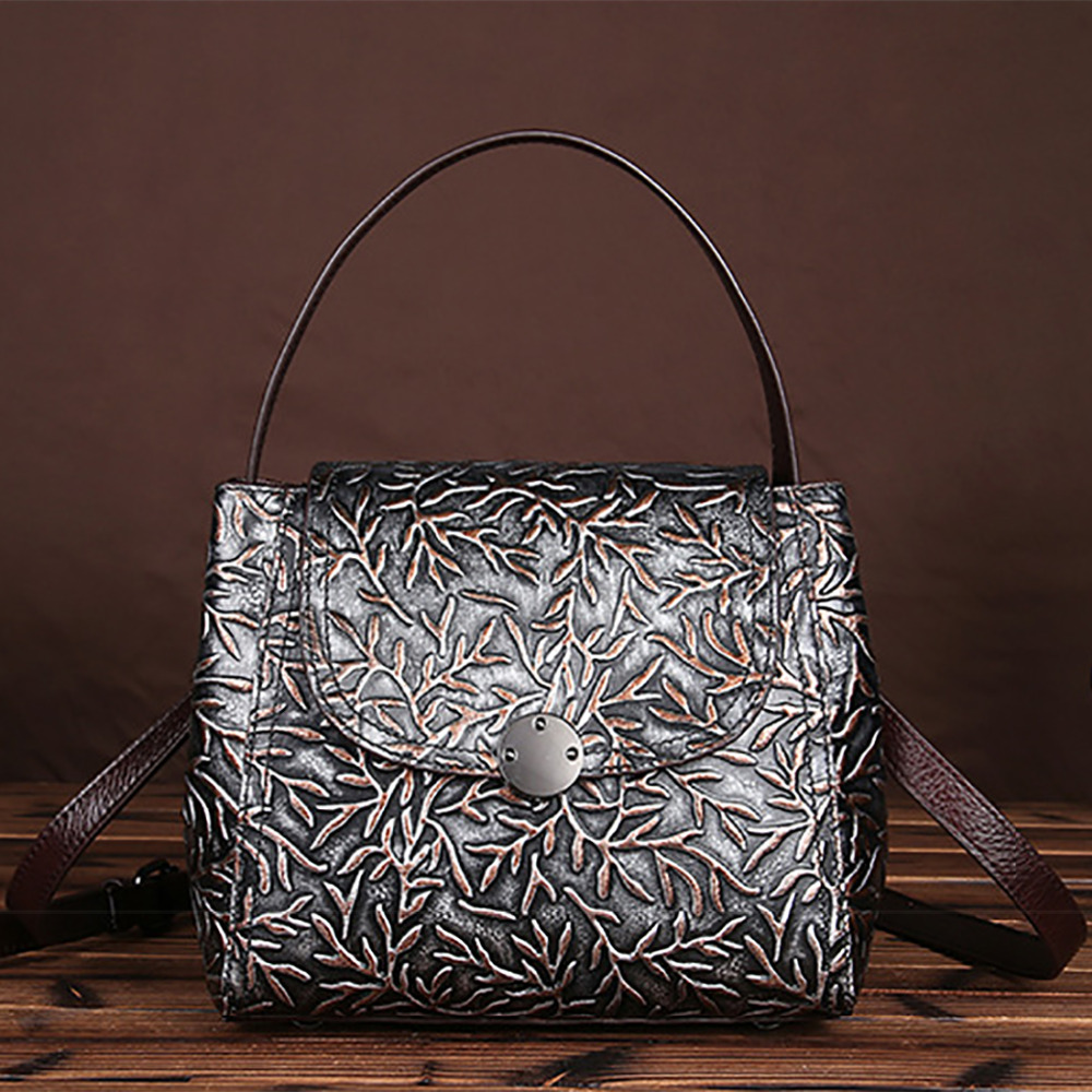 New Genuine Leather Women Embossed Tote Bag Famous Brand Ladies Handbag Travel Casual Small Crossbody Messenger Shoulder Bags tote bag