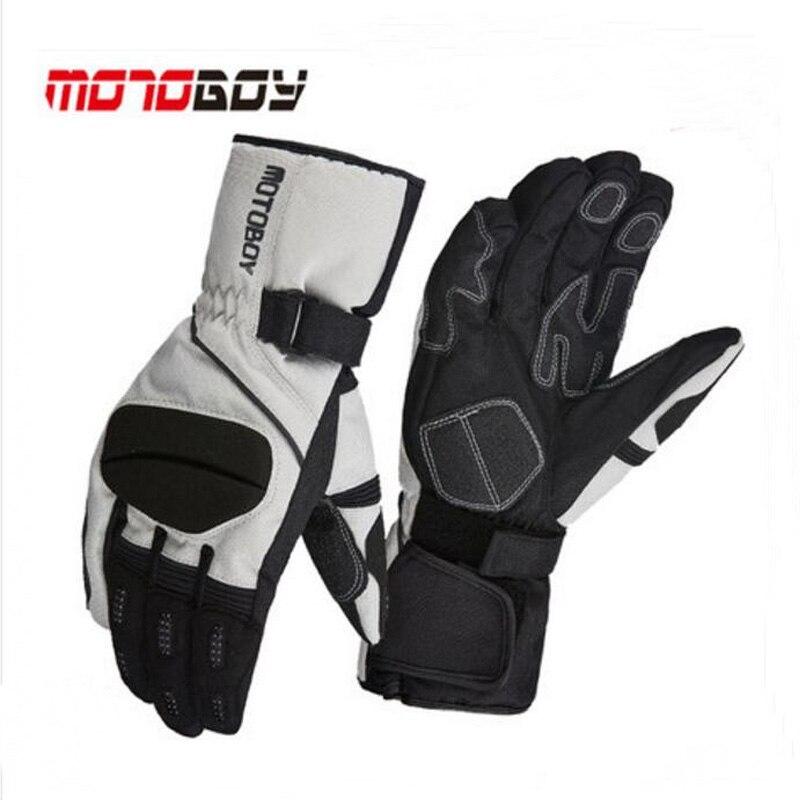 2017 Winter warm Cross country Motoboy Motorcycle Gloves windproof waterproof motorbike glove Non slip Wrestling Reflective 3 co