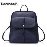 LOVEVOOK Brand Fashion Women Backpacks For Teenage Girls High Quality Shoulder Bag Female Zipper School Bags