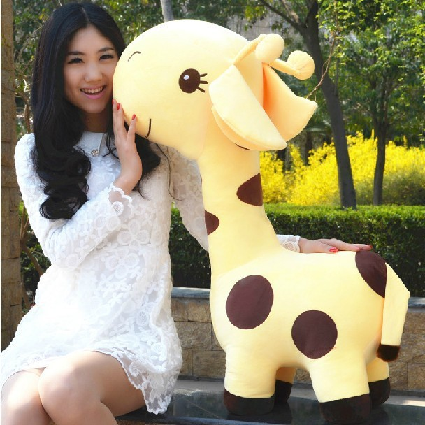 stuffed animal 85 cm cartoon giraffe plush toy lovely giraffe doll huge throw pillow gift w5089 stuffed animal 120 cm cute love rabbit plush toy pink or purple floral love rabbit soft doll gift w2226