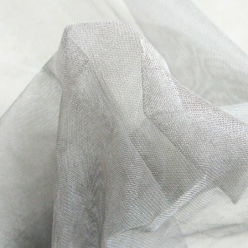 100% SHIELDING FABRIC SILVER COATED NYLON MESH silber 32 #