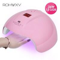 ROHWXY УФ-лампы для ногтей для маникюра светодиодный ногтей Сушилка Гель-лак льдинка светильник 12 шт светодиодный s Auto Сенсор 30 s/60 s/90 s Nail Art инст...