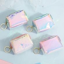 Clear Coin Purses Card Key Credit Holder Wallet Girls Zipper Mini Cartoon Waterproof Bag Cartoon Change Kids Coin Pouch