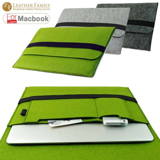 "For Macbook case Wool Felt Ultrabook Sleeve Bag for Macbook Air Pro Retina 11"" 13"" 15"" 17'' Laptop Inner 15 inch Notebook Cover"