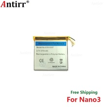 Antirr Original new Replacement Battery For ipod Nano3 3G 3rd Generation MP3 Li-Polymer Rechargeable Nano 3 616-0337 Batteries