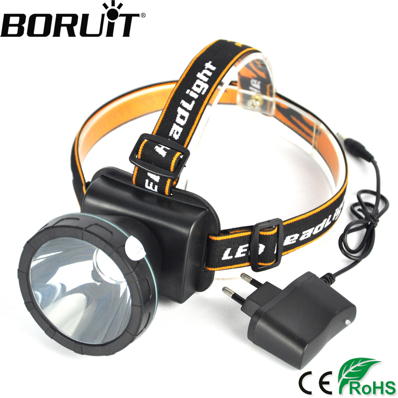 BORUIT 2000LM Blue LED Headlight 2-Mode Headlamp Camping Rechargeable Head Torch Hunting Frontal Lantern Fishing Lamp boruit b10 xm l2 led headlamp 3 mode 3800lm headlight micro usb rechargeable head torch camping hunting waterproof frontal lamp