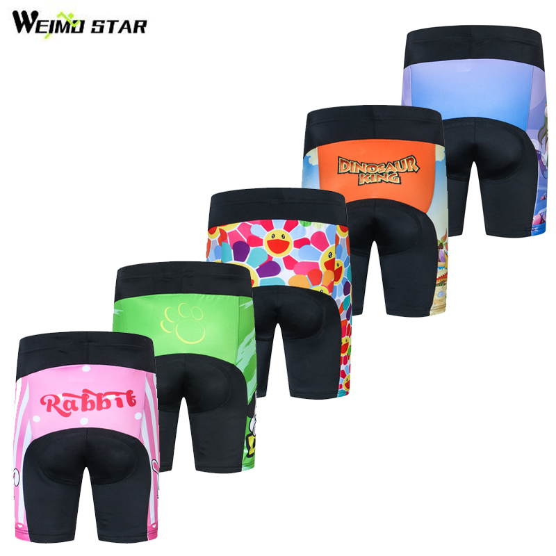 Weimostar Kids 3D Padded Cycling Shorts Boys Girls Shockproof MTB Road Bike Shorts Children Bicycle Short Tights Ciclismo S-XXL