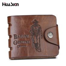 Fashion PU leather Brand BOMSHI Men's Wallet Multifunctional Short Design Men Wallet Zipper Coin Purse Free shipping