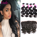 Malaysian Body Wave With Closure 4 Bundles Light Brown 7a Malaysian Virgin Hair With Body Wave Lace Frontal Closure Free Part 1b