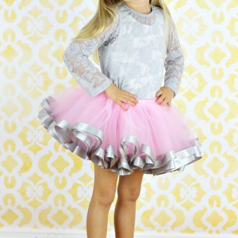 4-9Y Summer Kids Baby Girl Princess Party Tulle Skirt Toddler Ribbon Ballet Tutu Skirts