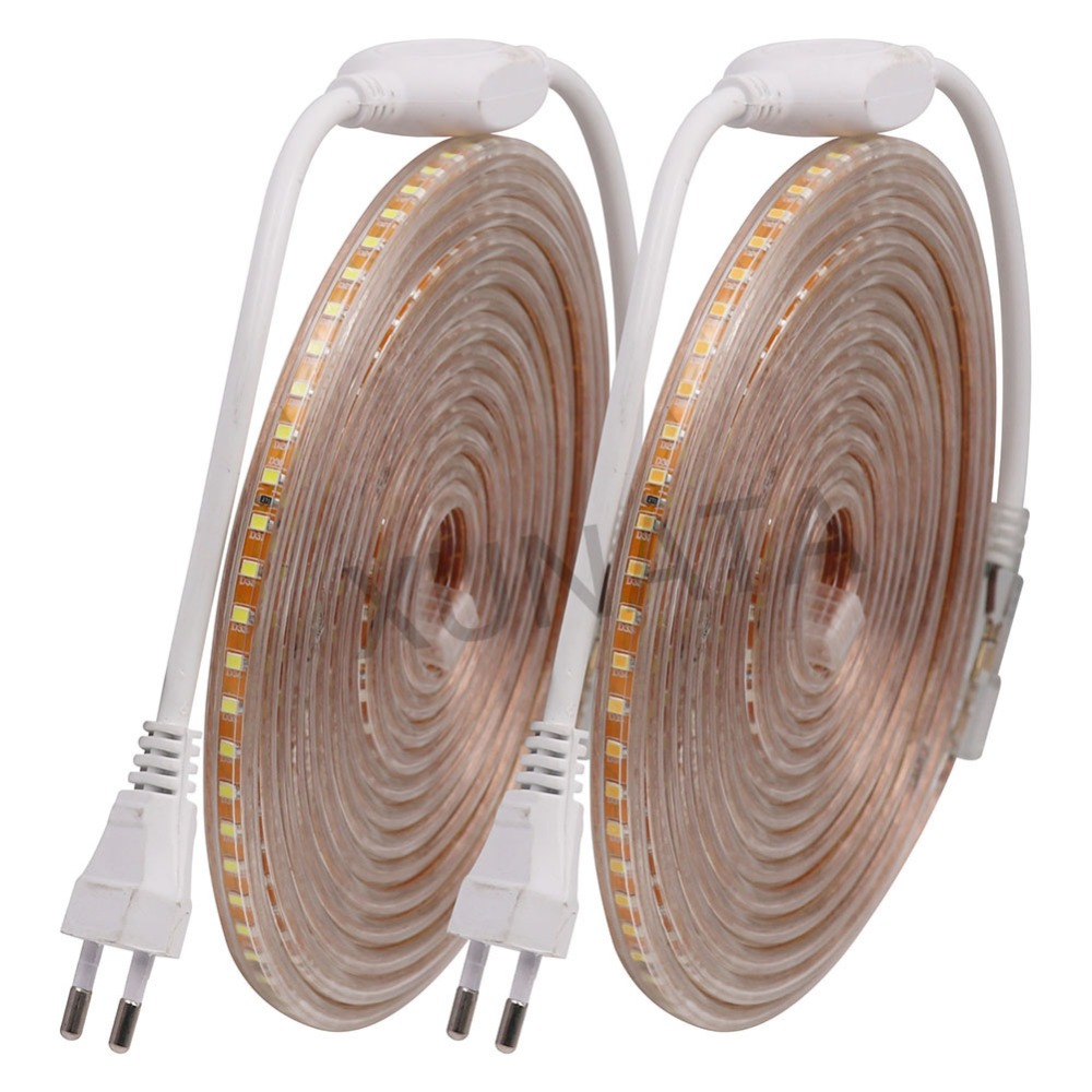 220V EU 2835 LED Strip Waterproof 120leds/m LED Diode Ribbon Tape Lamp Stripe Led Light For Home Decoration