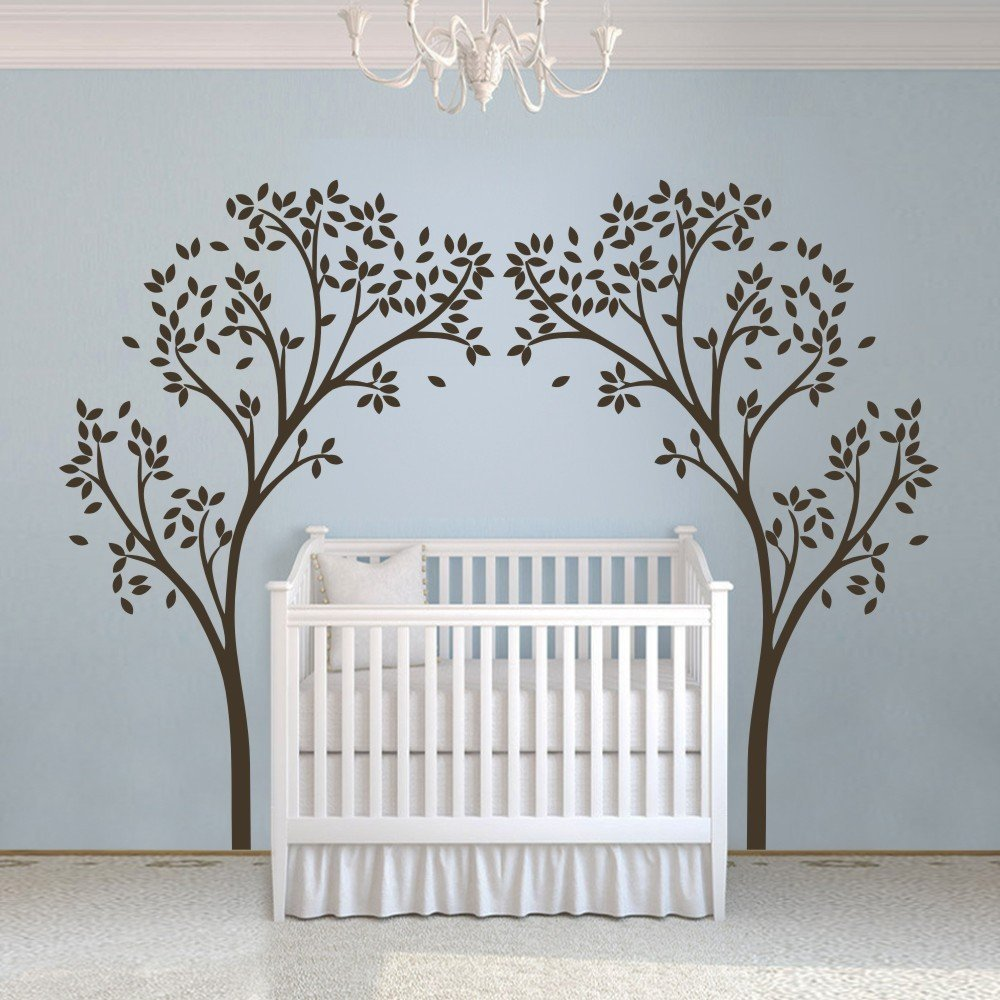 C059 Vinyl Nursery Tree Sticker Tree Canopy Portal Wall Decal Tree Wall Graphic Wall Mural Home Wall Art Decoration White