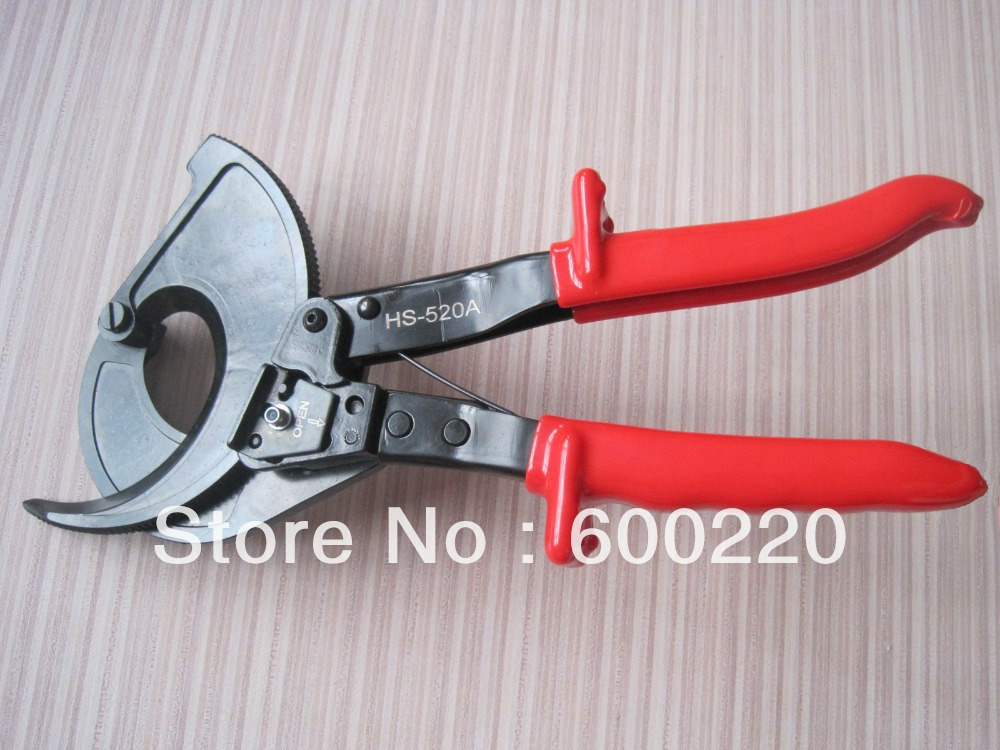 Ratchet Cable Wire Cutter Cut Up To 400mm2 HS-520A xkai 14pcs 6 19mm ratchet spanner combination wrench a set of keys ratchet skate tool ratchet handle chrome vanadium