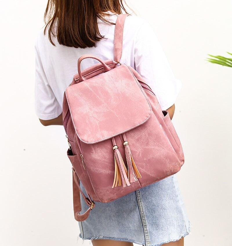 Casual Backpack Bags Large Capacity Vintage Women's Backpacks Nubuck Pu School Backpacks For Women .NSQB-013