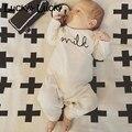 Хлопка с длинным рукавом детская одежда мода ребенка ползунки мягкие новорожденный ребенок костюм
